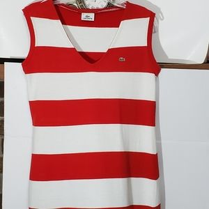 Lacoste red and white gator dress.
